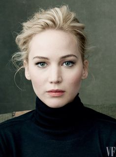 Jennifer Lawrence by Annie Leibovitz; love the hair and make up