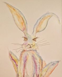 Got a bit carried away with my new watercolour pencils. :P  #art #watercolor #watercolour #hare #rabbit #nature #instaart #artist #instaartist #picoftheday #picofthenight #illustration #instagram #follow #pen #pencil #brush #water #color #colour #followme #fairytale