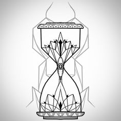 Geometrical ornamental hourglass