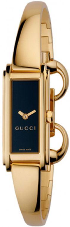 300c68eba0c Gucci 109 G-Line Collection Womens Black Dial Gold Tone Watch YA109524 Free  Overnight Shipping