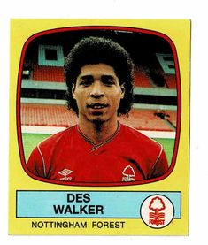 Des Walker of Nottingham Forest - Football 88 - Panini - English & Scottish Leagues Laws Of The Game, Association Football, Nottingham Forest, Most Popular Sports, Football Season, Birmingham, Fifa, Trading Cards, World Cup