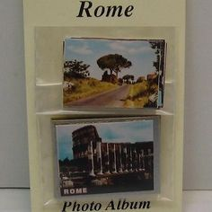 DOLLHOUSE Rome, Italy Photo Album & Pictures 2435 Jacqueline's 1:12 NRFB gemjane