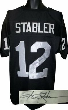 Ken Stabler Autographed/Hand Signed Oakland Raiders Black Prostyle Jersey by Hall of Fame Memorabilia. $236.95. Ken Stabler was drafted in the second round of the 1968 NFL Draft by the Oakland Raiders. As a starter in Oakland Stabler was named AFC player of the year in 1974 and 1976 and was the NFL's passing champion in 1976. In January 1977 he guided the Raiders to their first Super Bowl victory a dominating 32-14 win over the Minnesota Vikings. Ken has hand si...