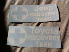 Items similar to Recovery Team jeep toyota hummer dodge ford chevy sticker decal on Etsy Chevy Stickers, Jeep Decals, Team Toyota, Toyota Starlet, Gt Turbo, Import Cars, Lift Kits, Hummer, Car Show
