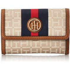 Tommy Hilfiger Lucky Charm Jacq Flap Wallet ($68) ❤ liked on Polyvore featuring bags, wallets, tommy hilfiger wallet, tommy hilfiger, tommy hilfiger bags and flap wallet