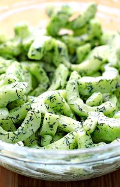 CUCUMBER DILL GREEK YOGURT SALAD ~ Cucumbers combine with Greek yogurt and dill to create a fresh crunchy salad perfect for summer. Mighty tasty. Crunchy, refreshing, and light