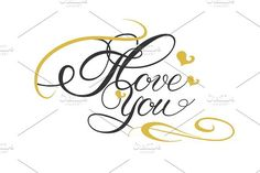 I Love You, Lettering Design. Be My Valentine