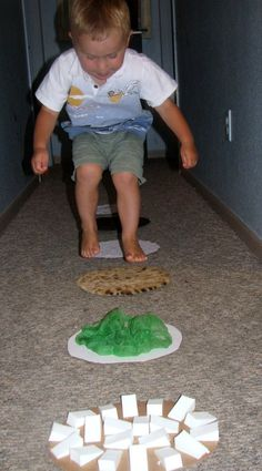 Sensory Steps - Sensory, Gross Motor, Math, Language, Fine Motor (have kids help make them).