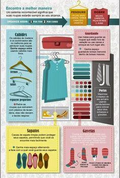 Guia de organização do closet