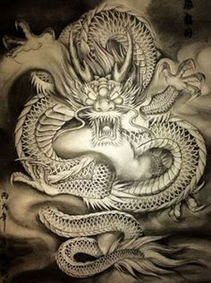 Positive Attributes Of Tattoos Japanese Dragon Tattoos, Japanese Tattoo Art, Japanese Art, Body Art Tattoos, Sleeve Tattoos, Dragons, Dragon Artwork, Asian Tattoos, Gold Dragon