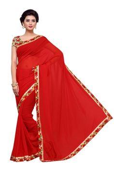 Red Saree, Sari, One Shoulder, Shoulder Dress, Dresses, Fashion, Saree, Vestidos, Moda