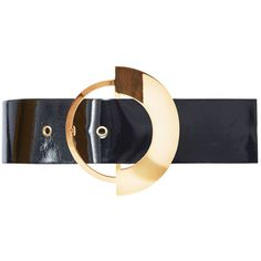 Roksanda Pre SS16: Roksanda Wide Brass Buckle Belt ($615) ❤ liked on Polyvore featuring accessories, belts, black, roksanda and wide belt
