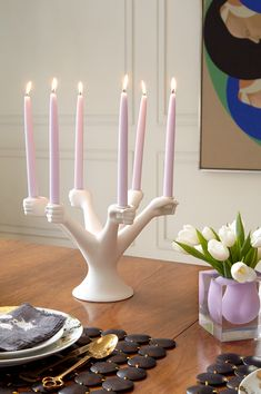 Jonathan Adler Porcelain Eve Candelabra Add a heavy dose of temptation to your next dinner party, with the our Eve-inspired riff on the neoclassical