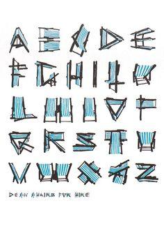 Deckchair alphabet