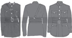 9302_13 Marines Uniform, Military Uniforms, Animation Reference, Drawing Reference, Drawing Studies, Drawing Clothes, My Drawings, Military Jacket, Illustration Kids