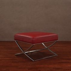 @Overstock - Milano ottoman features a frame made of chromed steel  Living room furniture works well with almost any home decor  Footstool is covered in burnt red leatherhttp://www.overstock.com/Home-Garden/Milano-Burnt-Red-Ottoman/3955168/product.html?CID=214117 $136.79
