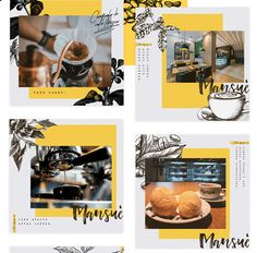 Vintage on Behance Instagram Feed Layout, Instagram Banner, Instagram Grid, Instagram Design, Food Graphic Design, Menu Design, Ad Design, Banner Design, Layout Design