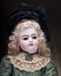 "24"" (61 cm) RARE Antique French Early bebe Doll by Gaultier FG block from respectfulbear on Ruby Lane"