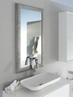 miroir pour salle de bain avec cadre baroque finition blanc mat dimensions 720x1860 by arcom arredobagno et disponible sur wwwattendsmoisousla - Cadre Salle De Bain