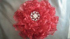 Organza fabric flower.