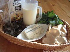 Zutaten für Austernpilze mit Gorgonzola
