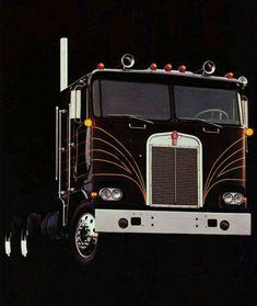 Big Rig Trucks, Semi Trucks, Cool Trucks, Custom Trucks, Custom Cars, Cab Over, Kenworth Trucks, Jeep Truck, Vintage Trucks