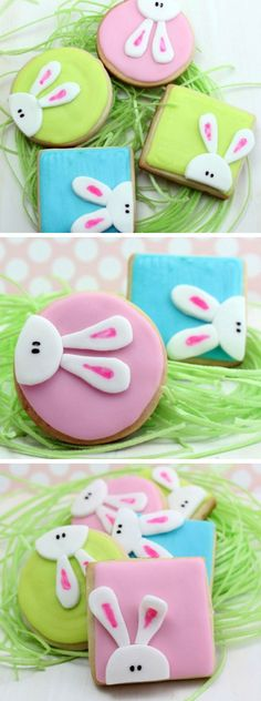 Peeking Bunny Cookies | Click Pic for 22 Easy Easter Cookies for Kids to Make | Delicious Easter Cookie Recipes from Scratch