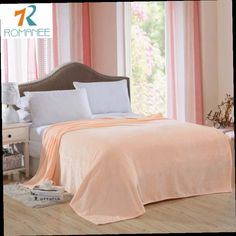 47.76$  Buy now - http://aliid2.worldwells.pw/go.php?t=32769416588 - Romanee New Queen size 200x230cm solid color Plaid sofa/air/bedding 1pcs Throw travel flannel Blanket home Winter Warm Bedsheet