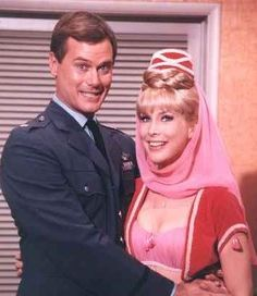I Dream of Jeannie aired on NBC from 1965-1970 and starred Barbara Eden as a 2,000 plus year old Genie that is found by Major Anthony Nelson (Larry Hagman), who is an astronaut who's space capsule lands on an island where he finds the bottle with Jeannie in it!