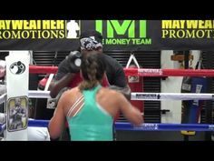 Raquel Pa'aluhi working inside the Mayweather Boxing Club