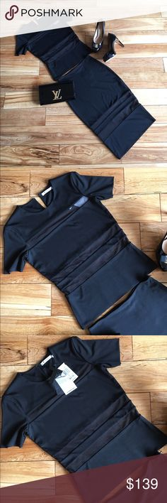 $310   NWT   T by Alexander Wang Black Mesh Top S NWT BRAND NEW, UNWORN WITH TAGS Sexy Women's Top  Brand: T by Alexander Wang Size: Small Color: Black Material: Body 56% Rayon, 38% Polyester, 6% Spandex  Combo: 80% Polyester, 20% Spandex  Retail price: $310  Beautiful, silky material, mesh insets T by Alexander Wang Tops Crop Tops