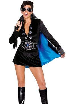 Lady Elvis costume female Elvis Presley