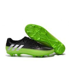 size 40 c6ad6 0c6a3 Adidas Messi 16.3 FG TERRENO FIRME Botas De Fútbol Negro Verde