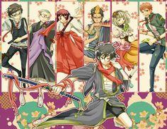 Rin, Yukio, Bon, Suguro, Konekomaru, Izumo, Shiemi, Shima, kimono, Kurikara; Blue Exorcist