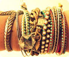 Mix de pulseiras. Amo que amo!