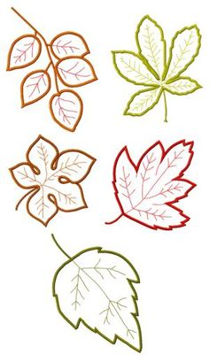Advanced Embroidery Designs - Leaves Applique Set II.