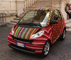 smart at the Festival del Lusso Essenziale by Magda Sayeg