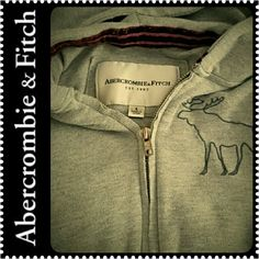 Abercrombie & Fitch Zip Hoodie A&F Signature Hoodie Style Top, Gray Shade,  Mint Condition Abercrombie & Fitch Tops Sweatshirts & Hoodies