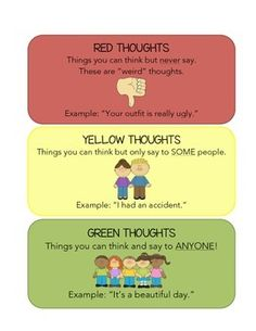 Red, Yellow, and Green Thoughts Visual (Disciplina con dignidad)