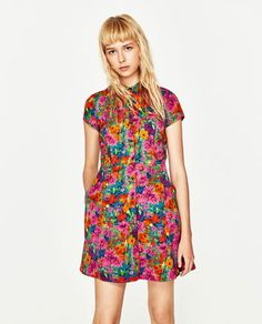 Image 2 of SHORT FLORAL PRINT DRESS from Zara