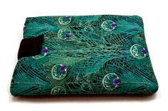 7, 8, 9 inch Tablet Case/ Cover/ Sleeve / Cozy, Green Peacock Feather for iPad, Kindle Fire, Galaxy, Nexus, Galaxy, Nexus, Nook, Surface, Asus, LG, Sony, iPad Mini, iPad Air, Amazon Kindle Fire, Samsung Galaxy, Barnes and Noble Nook, Google Nexus,LG, Verizon Ellipsis, Acer Iconia, Sony Xperia, Lenovo Yoga Tab, HP Slate, Dell Venue, Microsoft Surface, Asus Transformer.  Handmade/ Handcrafted Foam Padded Tablet Case from Green Peacock Feather Fabric  DISCLAIMER:  THIS IS NOT A LICENSED…