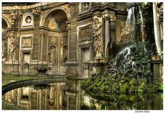 Villa Aldobrandini gardens  and fountains - Frascati - Italy