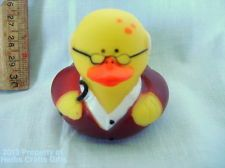 """Rubber Duck OVER the HILL Bald Man Glasses Cane Duckie NEW 2"""" Ducky Collectible'"""