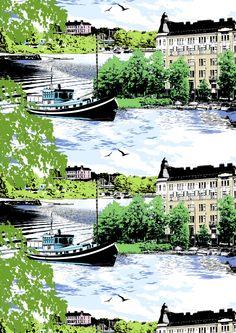 Vallila Hakaniemi by Matleena Issakainen Marimekko, Helsinki, Scandinavian Design, Live Life, Finland, Touring, Printing On Fabric, Paths, Print Patterns