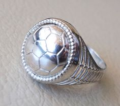 Football lover sterling silver 925 men ring all by AbuMariamJewels