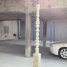 3D printed ceramic column - ELstudio #3dprinting #digitalcraftt #clay #digitalceramics #covepark #EKWC #architecture