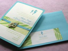 #beach #wedding #invitation