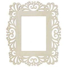 "5"" X 7"" Natural Laser Cut Wood Frame                                                                                                                                                      More"