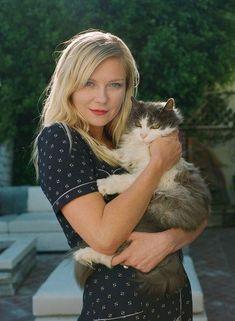 Kirsten Dunst & su gato