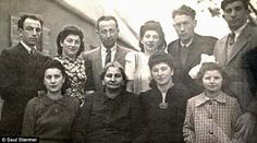 Several Jewish families escaped the Holocaust, thanks to the courage of Esther Stermer, front row, second from left - she and her family lived in an underground cave for 500 days.